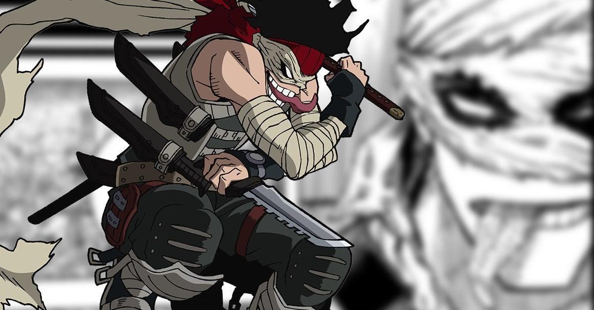 Новый облик Стэйна из аниме моя геройская академия