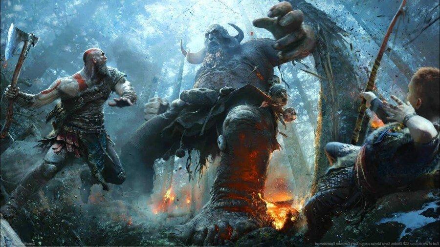 Игрок в God of War побеждает босса, используя только мизинец
